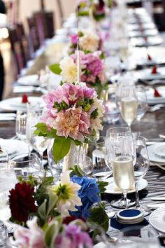 Wedding feasting table.  www.mikiandsonja.com