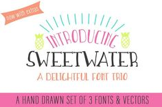 Sweetwater Handwritten Font Trio by Millie Mae & Co. on @creativemarket