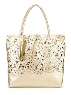 Ashlea Large Lace Cut Tote by Buco at Gilt.  Bought a mint colored cutout purse at khol's.