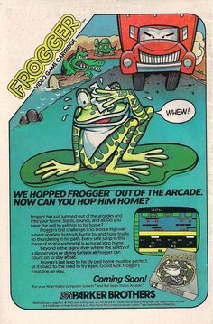 #Frogger Ad For The Atari 2600 (1982) Video Games Your #1 Source for Video Games, Consoles