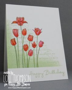 Masked Tulips (Stamping with Loll)