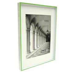 Studio 500 Modern Striped Clean Cut Picture Frame Color: Green
