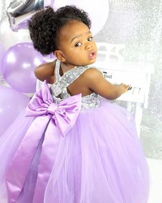 Fair to say... Purple is her color!!!  Happy birthday beautiful! Looking like a real Princess in our Sarafina Dress in Purple!   SHOP: ittybittytoes.com We ship Worldwide ✈️