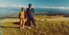 1990 - Hawaii - Denise and Rudy - Bike ride down Haleakala.  It's freezing at the top and hot  by the time you get to the bottom.