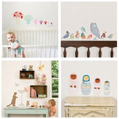 Best thing about wall decals? Nothing to fall from the walls to endanger baby!