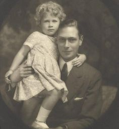 King George VI of the United Kingdom with his daughter, Queen Elizabeth II of the United Kingdom.