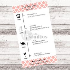 Wedding Day Timeline  Digital Download by 1246studios on Etsy