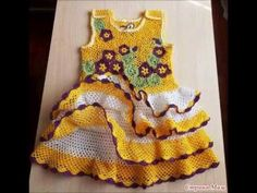 How to crochet a PINK BABY DRESS, PART 1 - YouTube