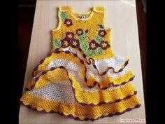 CROCHET BABY DRESSES - YouTube JUST IDEAS