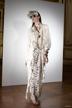 lanvin wedding dresses spring 2013 long sleeve lace gown