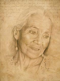 Drawing by Maria Teresa Meloni Portrait Au Crayon, Pencil Portrait, Portrait Art, Pastel Drawing, Painting & Drawing, Trois Crayons, Pastel Portraits, Portrait Sketches, Pencil Art Drawings