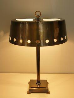 Jacques Quinet - Lampe à base carrée