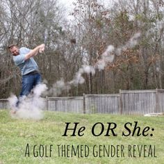 DIY: Filling a golf ball with chalk powder for gender reveal.