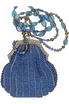 vintage blue beaded purses - Google Search