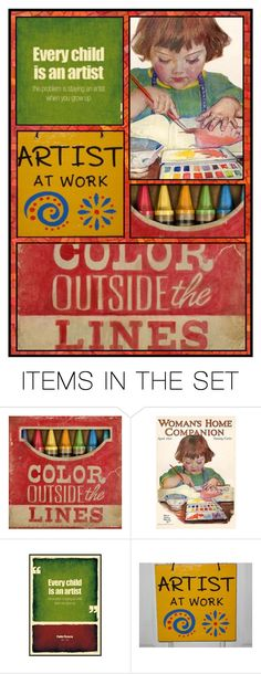 """""""Every Child is an Artist"""" by juxtaposejane ❤ liked on Polyvore featuring art"""
