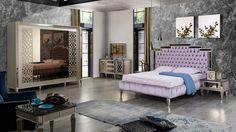 Gloria art deco yatak odası – Home Trends 2020 Art Deco Bedroom, Bedroom Sets, Simple Sofa, Furniture Near Me, Round Beds, Luxury Furniture Brands, Luxury Sofa, Beds Online, Bed Design