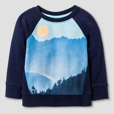 Toddler Boys' Crew Neck Sweatshirt Navy Voyage - Cat & Jack™ : Target