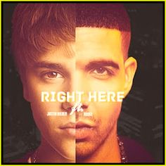 New lyric video for Justin Bieber and Drake's new song 'Right Here'.