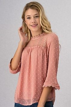 This textured woven top features a polyester lining and a button closure in the back. Materials: Polyester lining Sizing: Sizing up is suggested. Kurti, Pretty In Pink, Snug, Tunic Tops, Closure, Button, Dresses, Design, Products