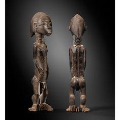Belle statue masculine, Baulé, Côte d'Ivoire   lot   Sotheby's