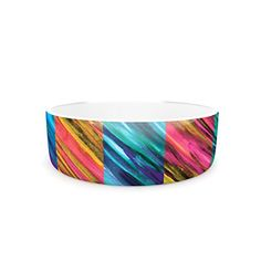 Kess InHouse Theresa Giolzetti Set Stripes II Pet Bowl >>> More info could be found at the image url. (This is an affiliate link) Elevated Dog Bowls, Raised Dog Bowls, Dog Water Bowls, Cat Id Tags, Cat Training Pads, Cat Shedding, Cat Fleas, Cat Memorial, Flea And Tick