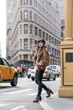 Fur Coats Worth Buying - NYC Fashion Blogger in Faux Fur Coat | in NYC | Ofleatherandlace.com