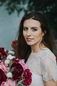 Delikatny makijaż ślubny.  Wedding makeup. Burgundy&marsala wedding.