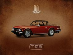 Triumph Art Print by Mark Rogan. All prints are professionally printed, packaged, and shipped within 3 - 4 business days. Triumph Motor, Car Prints, Thing 1, Automotive Art, First Car, Motor Car, Cars And Motorcycles, Vintage Cars, Volkswagen