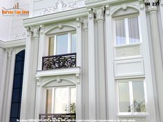 Balcony Design, Window Design, Modern Exterior, Exterior Design, My Home Design, House Design, Front Elevation Designs, Luxury House Plans, Indian Homes