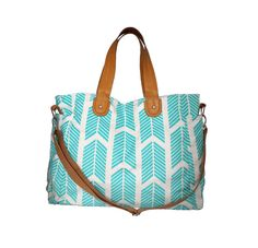 Take it all with you with this stylish Teal Arrows Weekender Tote Bag! This bag works well as a carry-all, a diaper bag, for school or work, or