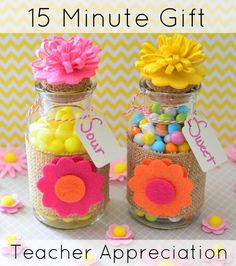 DIY Teacher Appreciation Gift - Made in under 15 minutes!