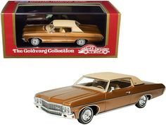 PRODUCT DESCRIPTION Brand new 1/43 scale car model of 1970 Chevrolet Impala Custom Coupe Caramel Bronze Metallic with Matt Tan Top Limited Edition to 220 pieces Worldwide model car by Goldvarg Collection. Brand new box. Real rubber tires. Officially licensed product. Highly detailed interior, exterior. Comes in plastic display showcase. Dimensions approximately L-5 inches long. This model is made of resin and does not have any openings. The 1970 Impala got a minor facelift featuring a more… Outside Toys For Boys, Kids Toys For Boys, Jet Engine, Fire Engine, Hurst Shifter, Rubber Tires, Diecast Model Cars, Display Showcase, Super Sport
