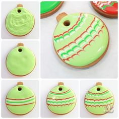 Marbled Ornament Cookie Step by Step Pictorial