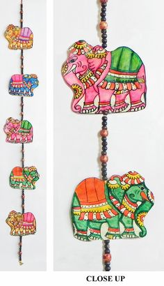 Hand Painted Hanging Birds With Beads Perforated Leather - Hand Painted Hanging Elephants With Beads Perforated Leather Crafts From Andhra Pradesh Leather Crafts Diwali Wall Hangings Handicraft Elephants Wall Tapestries Craft Elephant Wall Hooks Dolls Of Art N Craft, Craft Work, Diy Art, Elephant Crafts, Elephant Art, Indian Elephant, Hobbies And Crafts, Diy And Crafts, Arts And Crafts