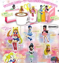 Sailor Moon Descended Desk Figure Bandai - Full Set of 5 (August 2014)
