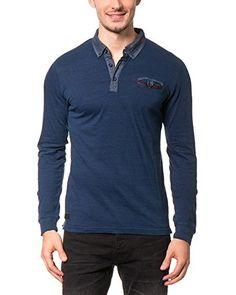 AMERICAN PEOPLE Poloshirt Study [blau]