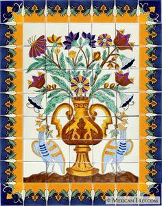 Mexican+Talavera+Tile+Murals+|+Ave+Fenix+Handpainted+Mexican+Talavera+Ceramic+Tile+Mural