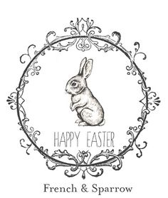free Easter printable from French Sparrow