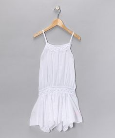 Take a look at this White Sequin Dress  by Blow-Out on #zulily today!  #zulily and #fall