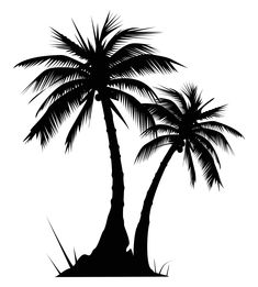 palm tree clip art black and white Quotes