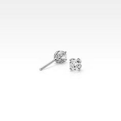Monique Lhuillier Pavé Petal Diamond Earrings in Platinum ct. Gold Diamond Earrings, Diamond Jewelry, Diamond Stud, Modern Jewelry, Fine Jewelry, Jewellery, Cheap Earrings, Diamond Sizes, Natural Diamonds
