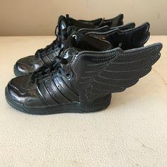 best loved e73b5 f7c63 Jeremy Scott x Adidas Shoes   Jeremy Scott X Adidas Patent Wings   Color   Black   Size  7bb