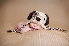 Baby Boy Hat Puppy Dog infant newborn by BellaMariesboutique, $15.00