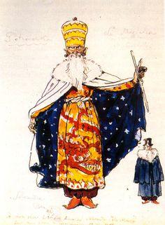 Magician. Costume design - Alexandre Benois