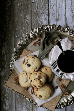Chocolate Chip Cookies with Cherries and Pecans