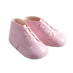 Traditional Spanish Romany Style Baby Pram Shoe Boots Patent Pink by Baypods | eBay