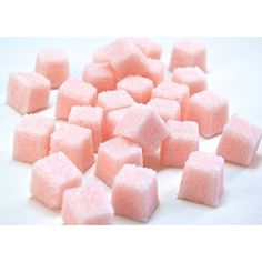 Rose Petal Flavored Sugar Cubes for Tea Parties, Champagne Toasts,... ($8.50) ❤ liked on Polyvore featuring backgrounds, food & drink, food and drink and pictures