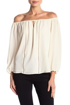 2d6d88084 CeCe by Cynthia Steffe | Off-the-Shoulder Keyhole Blouse | Nordstrom Rack  Off