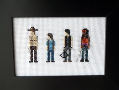 The Walking Dead Original Cross Stitch Picture - Framed - Unique Gift