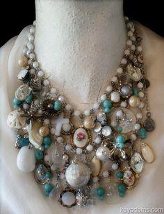Dream Necklace Drippy Dreamy White & Creamy  Etsy.